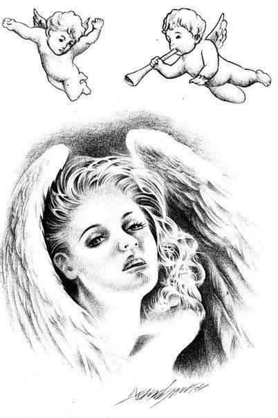 Jesse Santos - Book of angels | Angels | Angel tattoo designs, Tattoo designs, Religious tattoos