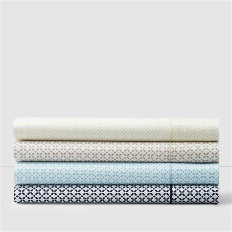 hudson park 500tc printed tiles sheet collection