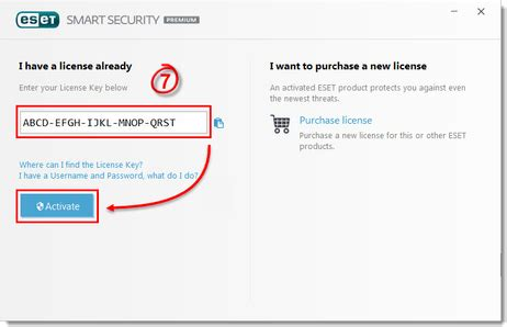 eset smart security  license key  working