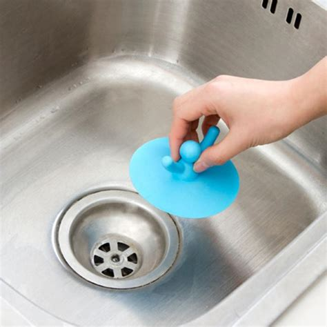water plug circle silicon drain cover plug cute shape kitchen laundry water stopper sink bathtub