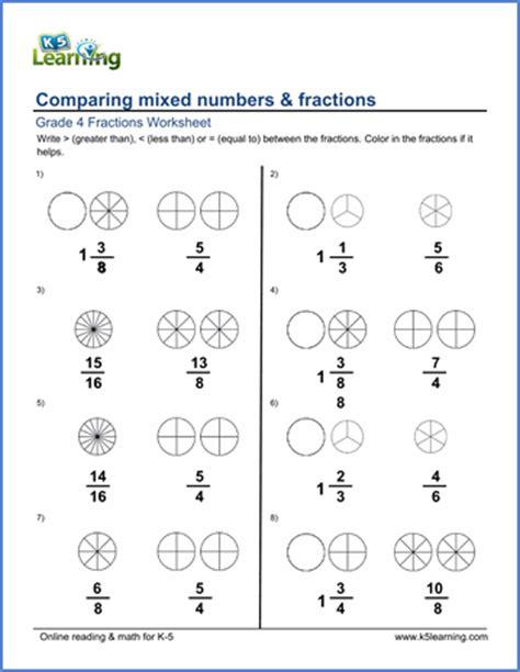 All Worksheets » Comparing Fractions Worksheets  Printable Worksheets Guide For Children And