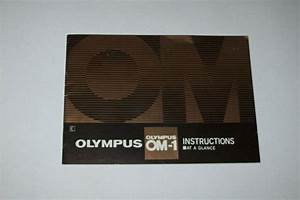 Vintage Instructions Manual At A Glance For Olumpus Om