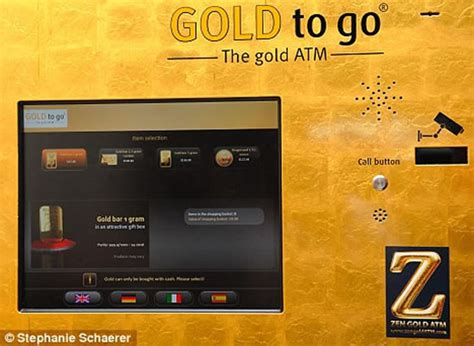 first gold vending machine now in uk gadgets new