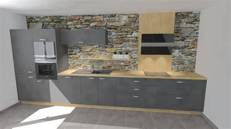 cuisine noir et grise cuisine grise et bois top cuisine