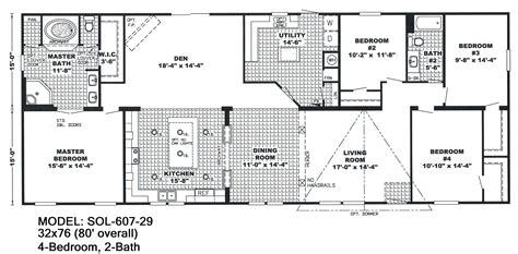 4 bedroom floor plans one 4 bedroom wide mobile home floor plans unique