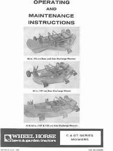 Wheel Horse Gt Series 36 Inch 42 Inch 48 Inch Mower Decks
