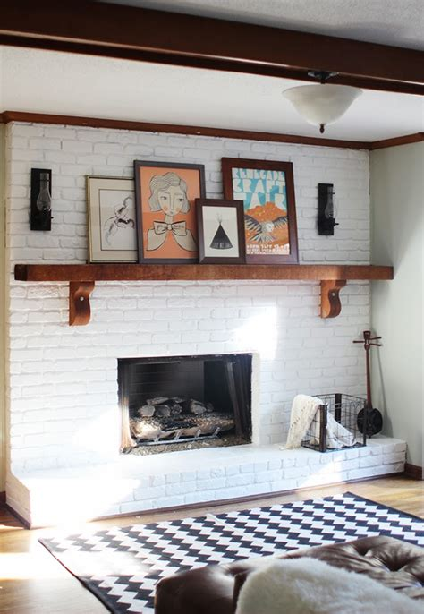 painted white brick fireplace m a i e d a e project home fireplace makeover