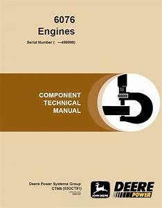 John Deere 6076 Diesel Engine Repair Manual Ctm6