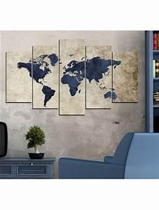 Tableau Du Monde : 1000 id es sur le th me toiles des cartes du monde sur pinterest l 39 art de carte murale art de ~ Teatrodelosmanantiales.com Idées de Décoration