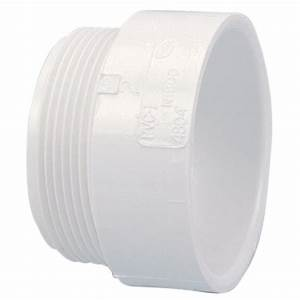 4 In  Pvc Dwv Hub X Mipt Male Adapter Fitting