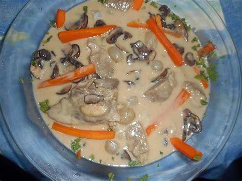 cuisiner tendron de veau recette de blanquette de tendron de veau
