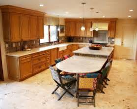 kitchen island with table extension two level kitchen island houzz