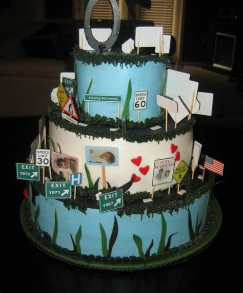 story birthday cake spiraled milestone cake cakecentral