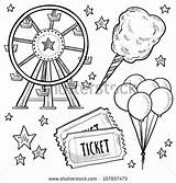 Tickets Coloring Pages Carnival Sketchite sketch template