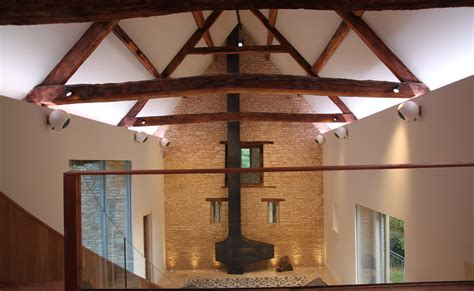 barn lighting barn conversion gloucestershire projects