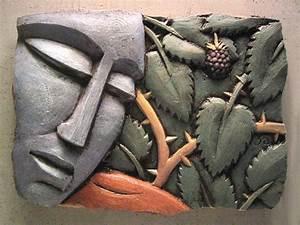 Fig 3a by Steve Gardner (Ceramic Wall Sculpture) Artful Home