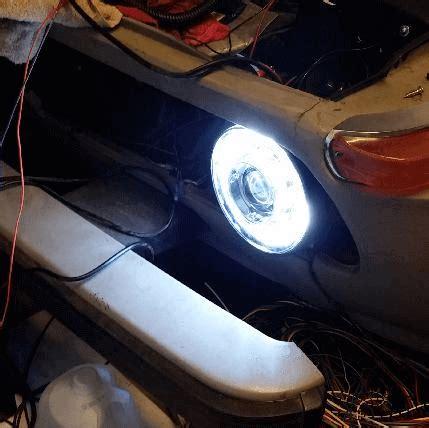 hid halo headlights restomod 140mm cob drl ring headlight kit xenon bi bmw 2002 update 2002bmw