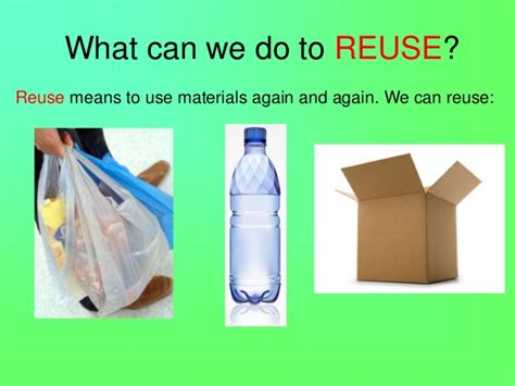 three rs reuse means packaging