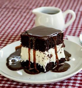 Alice and the Mock Turtle: Hot Fudge Ice Cream Cake