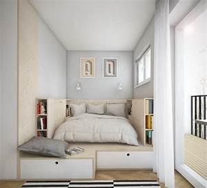 Aménagement Petite Chambre : am nagement petite chambre utilisation optimale de l espace ~ Melissatoandfro.com Idées de Décoration