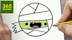 Dessin Facile Halloween : comment dessiner momie kawaii tape par tape dessins ~ Melissatoandfro.com Idées de Décoration