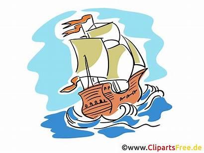 Cartoons Cliparts Gratis Segelschiffe Clipart Immagini Tecknad