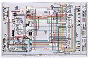 Wiring Diagram  1970 Cutlass  F85  11x17  Color   Opgi Com