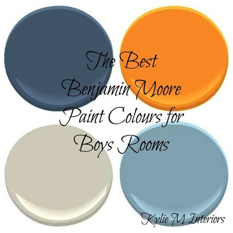 the best benjamin moore paint colours for boys rooms for