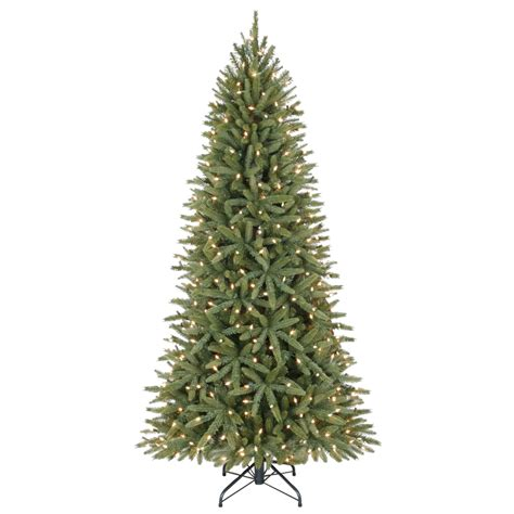 christmas trees lowes fresh living 6 5 ft pre lit walden pine artificial tree 32 at lowes