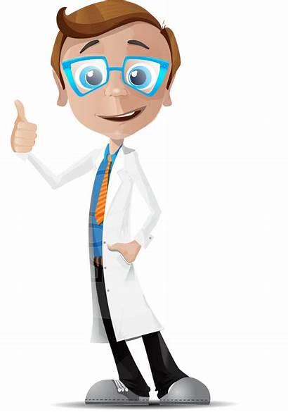 Doctor Cartoon Vector Character Medical Scientist Transparent