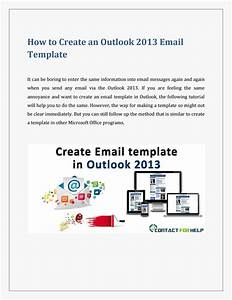 Create an email template in outlook 2013 by lisa heydon for Making an email template