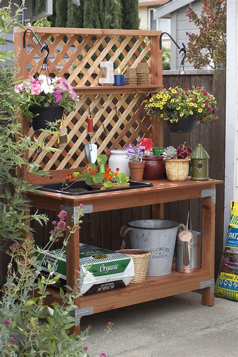 outdoor potting bench diy potting bench diy done right