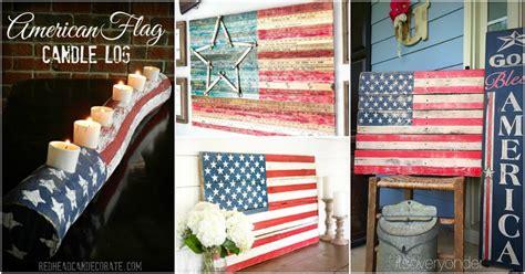 diy rustic wood fourth  july decor ideas  show