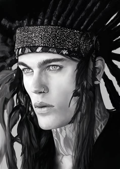 Stephen James with an Indian Hairpiece by denkata5698 on DeviantArt