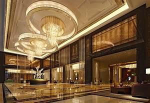 Hotel lobby interior decoration image