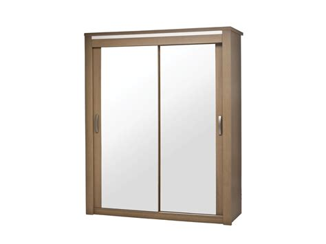 armoire chambre 2 portes armoire 2 portes coulissantes miroir bahia laque perle