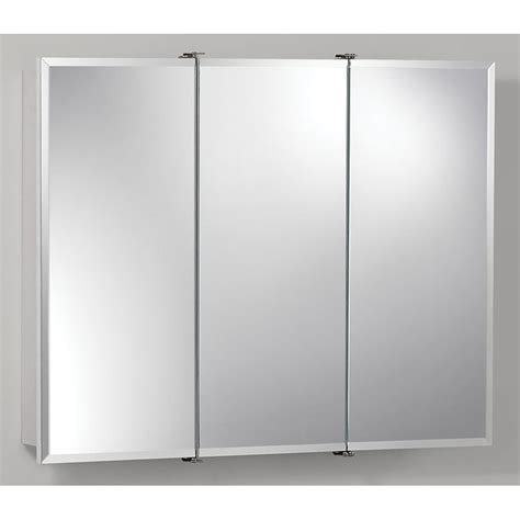 jensen medicine cabinet ashland tri view 6 light 48w x 28h