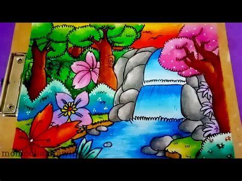 contoh gambar cara mewarnai dengan gradasi warna