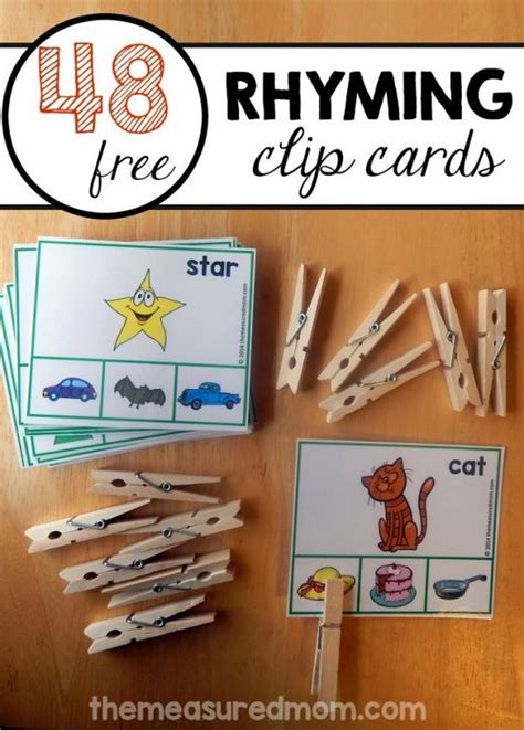 teach rhyming words with this printable student