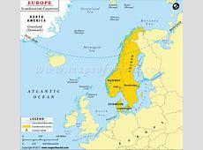 Map of Scandinavian Countries, Scandinavia Map