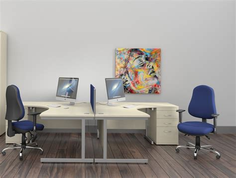 Oe Multifunction Operator Chair With Chrome Arms In Blue