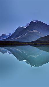 Lake, Mountain, Reflection, Nature, Blue, Android, Wallpaper