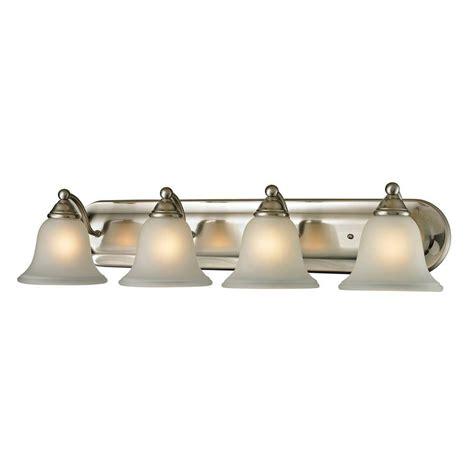 titan lighting shelburne 4 light brushed nickel wall mount