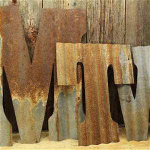 custom cut decor rustic metal signs and shapes for your home With corrugated metal letters wholesale