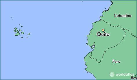 quito ecuador quito pichincha map