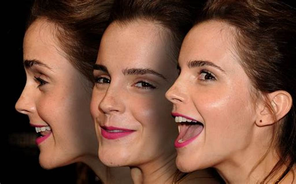 #Emma #Watson #Mouth #Open #Eyes #Closed