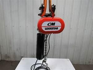 Cm Lodestar Model L 1 Ton Electric Chain Hoist 16fpm Push
