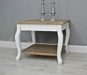 Beistelltisch Weiß Landhaus : couchtisch tisch beistelltisch wei braun landhaus ~ Watch28wear.com Haus und Dekorationen