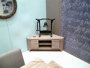 Meuble Tv Petit : petit meuble tv d angle st germaindubois ~ Teatrodelosmanantiales.com Idées de Décoration