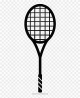 Tennis Coloring Racquet Raquete Desenho Teni Pngfind Racket sketch template